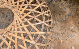 Chicken coop made from bamboo Stock Photo