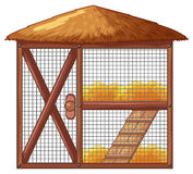 Chicken coop with no chicken. Illustration Stock Photos
