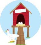 Chicken Coop Royalty Free Stock Photography