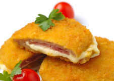 Chicken cordon bleu Stock Photo