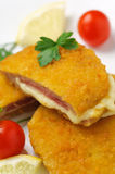 Chicken cordon bleu Stock Photography