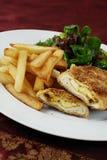 Chicken cordon bleu royalty free stock photos