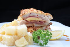 Chicken cordon bleu Royalty Free Stock Photo