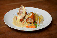 Chicken Cordon Bleu Royalty Free Stock Photography