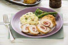 Chicken cordon bleu Stock Images