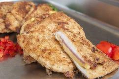 Chicken cordon bleu at a restaurant buffet Stock Photos