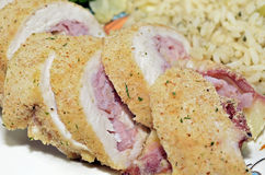 Chicken Cordon Blue Stock Photo