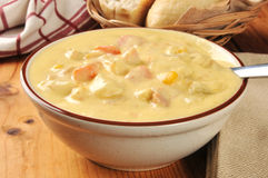 Chicken corn chowder Stock Images