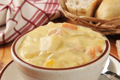 Chicken corn chowder Stock Photo
