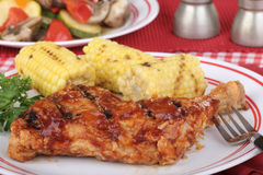 Chicken and Corn Dinner Royalty Free Stock Images
