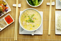 Chicken And Corn Soup Royalty Free Stock Images