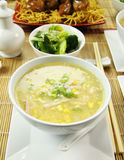Chicken And Corn Soup Stock Photo