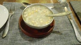 Chicken corn soup stock photos