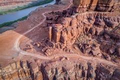 Chicken Corner Trail and Colorado River Stock Image