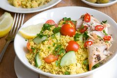 Chicken and cous-cous Stock Photos