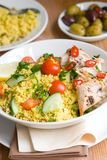 Chicken and cous-cous Royalty Free Stock Photography