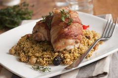 Chicken with cous-cous Royalty Free Stock Image