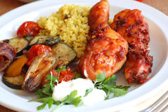 Chicken with couscous Stock Images