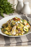 Chicken with couscous Royalty Free Stock Image
