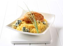 Chicken and couscous Royalty Free Stock Images