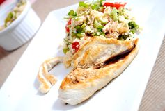 Chicken with couscous Stock Image