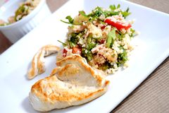 Chicken with couscous Stock Photography