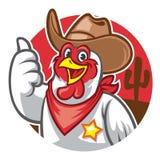 Chicken cowboy thumb up. Vector of chicken cowboy thumb up royalty free illustration