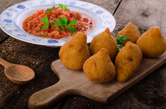 Chicken Coxinhas Stock Photo