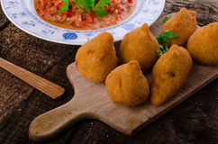 Chicken Coxinhas Royalty Free Stock Images