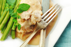 Chicken in Cream Sauce with Green Beans Royalty Free Stock Image
