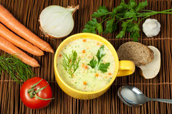 Chicken Cream Soup Royalty Free Stock Image