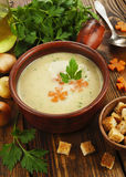 Chicken cream soup Stock Images