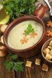Chicken cream soup Royalty Free Stock Photo