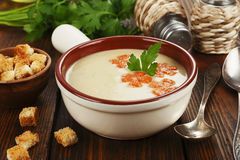 Chicken cream soup Royalty Free Stock Images