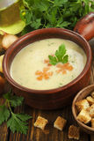 Chicken cream soup Stock Image