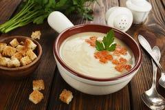 Chicken cream soup Stock Photos