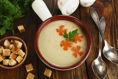 Chicken cream soup Stock Photo