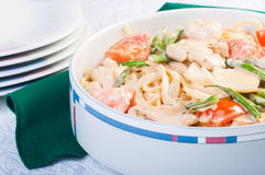 Chicken creamy pasta Stock Photography