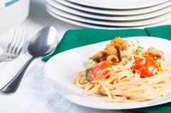 Chicken creamy pasta Stock Photo