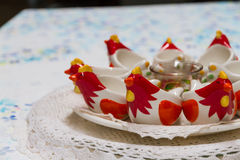 Chicken crockery Stock Image