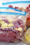Chicken Crockpot Freezer Meals. Chicken Crock Pot Freezer Meals for Slow Cooking Royalty Free Stock Photos