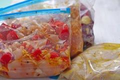 Chicken Crockpot Freezer Meals Royalty Free Stock Photo