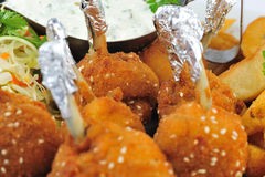 Chicken croquettes details Stock Photography