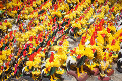 Chicken crowd statue for pay off a bet Stock Photography