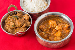 Chicken curries and rice Royalty Free Stock Image