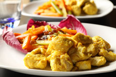 Chicken and curry Royalty Free Stock Photos