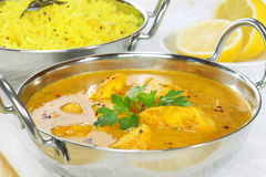 Chicken Curry with Basmati Rice Royalty Free Stock Images