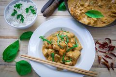 Chicken curry on bowl Royalty Free Stock Photography