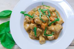 Chicken curry on bowl Royalty Free Stock Images