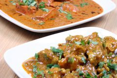 Chicken curry and butter chicken Royalty Free Stock Images